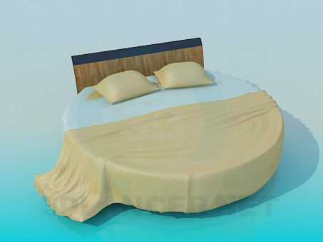 3d modeling The round bed model free download