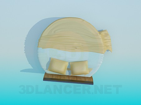 3d model The round bed - preview