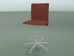Low back stool 6507 (5 legs, with removable padding, V12)