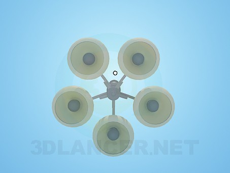 3d model Chandelier with shades - preview