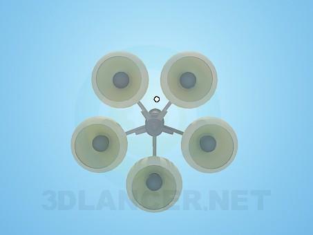 3d модель Люстра с закрытыми плафонами – превью