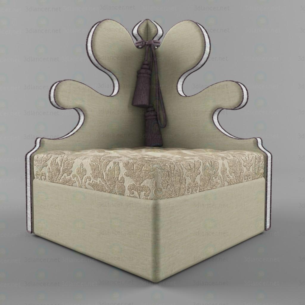 3d Armchair Belisaire model buy - render