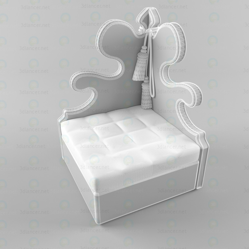 Sillón Belisaire  3D modelo Compro - render