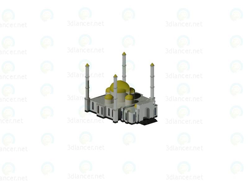 3d модель мечеть – превью