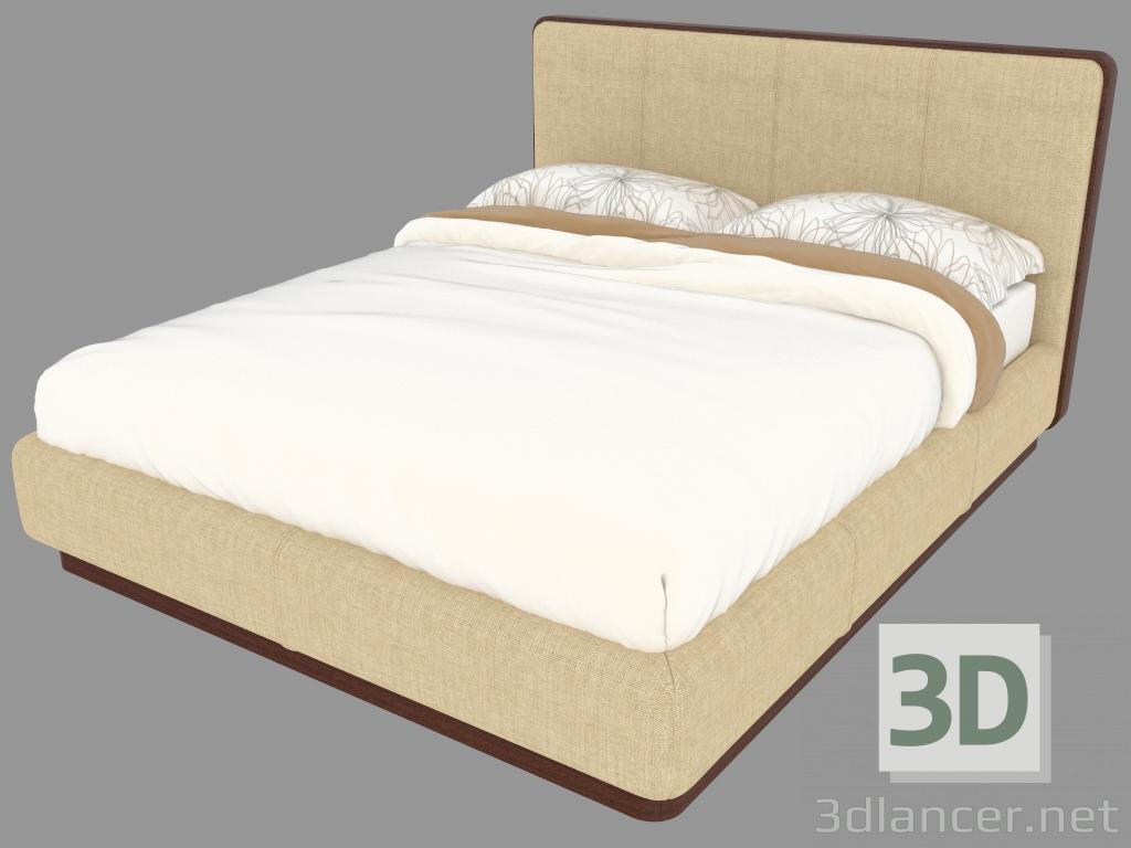 Base Letto Matrimoniale Legno : 3d modella letto matrimoniale con base in legno naturale ermes dal