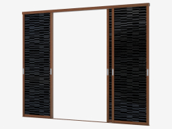 Sliding system for built-in closet (sh 11)