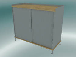 Buffet Enfold (Tall, Oak, Gray)