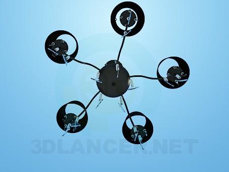 modelo 3D Araña oscura con espirales de vidrio - escuchar