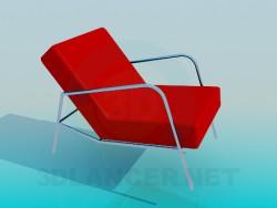 फ्लैट चारपाई की अगली पीठ के साथ कुर्सी