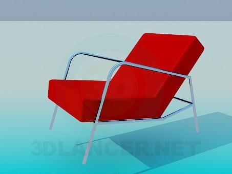 modelo 3D Silla con cabecera plana - escuchar