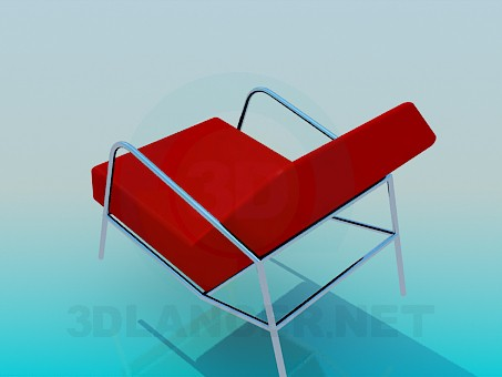 3d model Chair with flat headboard - preview