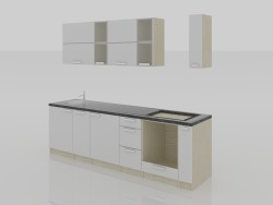 Cucina minimalismo 2800x600x2200 (h