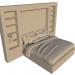 3d Bed model buy - render