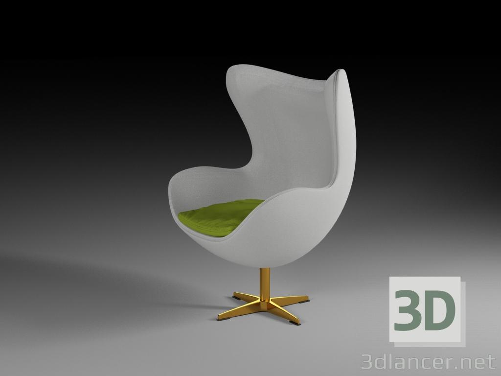 3 डी मॉडल अंडे की कुर्सी - पूर्वावलोकन