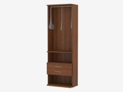 L'élément du mur du meuble avec une traverse pour cintres et tiroirs