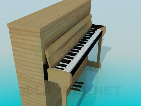 3d model Wooden piano - preview