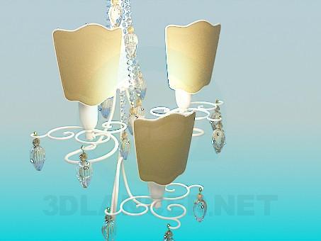 3d модель Красивый настенный светильник – превью