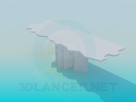 3d модель Пристеночный столик с извилистым краем – превью