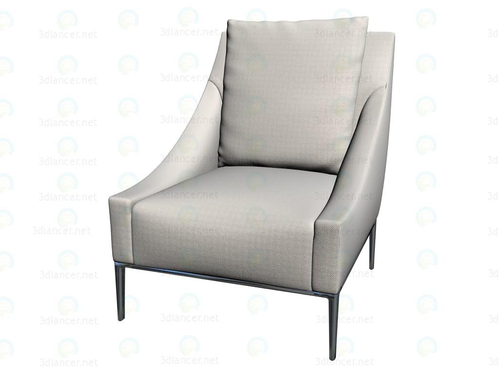 3d model armchair j74 manufacturer b b italia id 14224