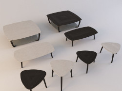 Coffee tables from Fiorile by Poltrona Frau - 4 types