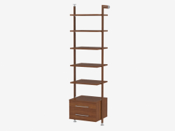 Rack with solid shelves and two drawers (go 99)