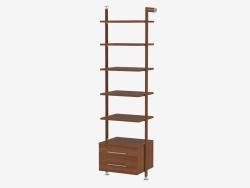 Rack avec étagères pleines et deux tiroirs (allez 99)