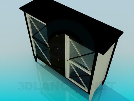 modelo 3D La parte inferior del buffet - escuchar