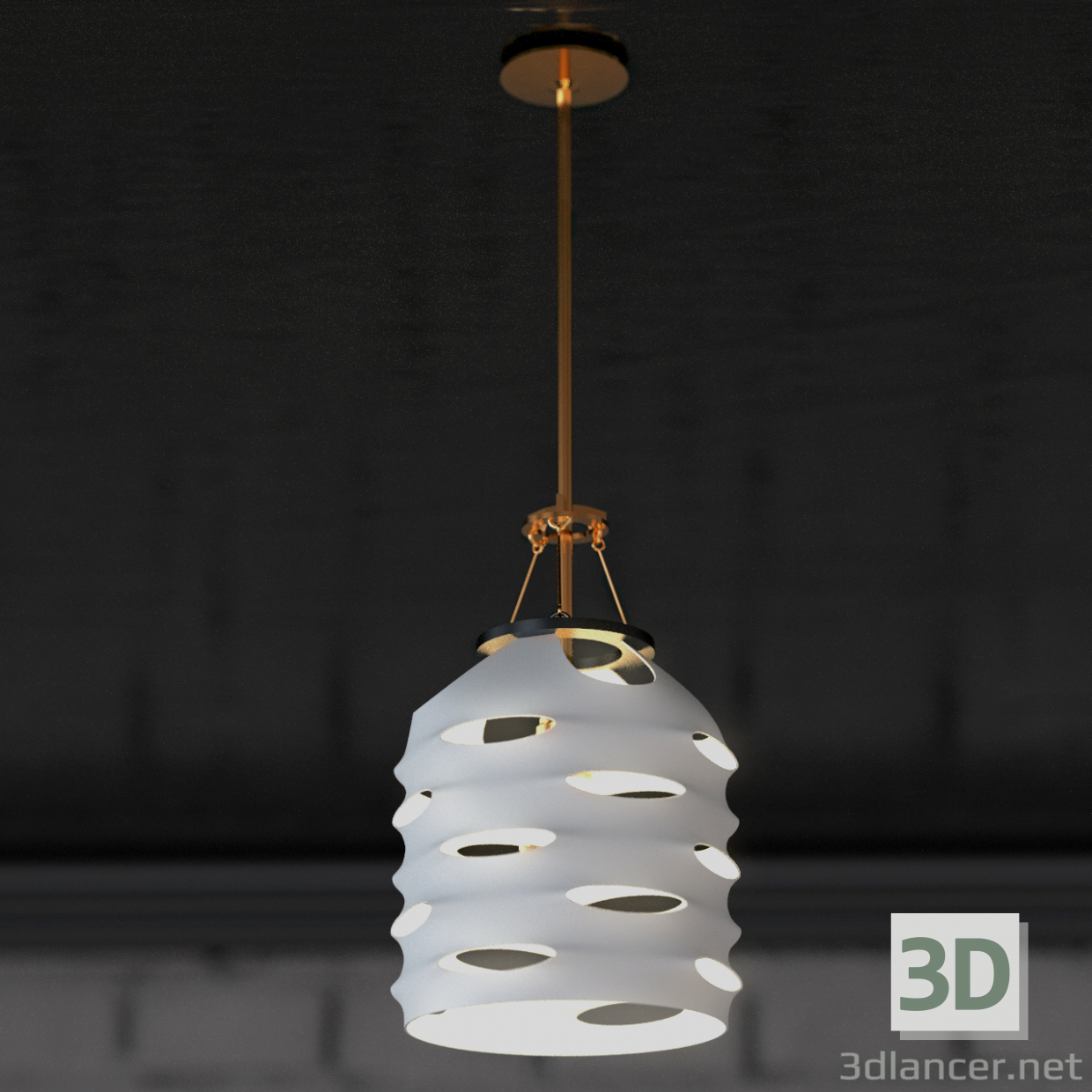3d model Suspended chandelier - preview