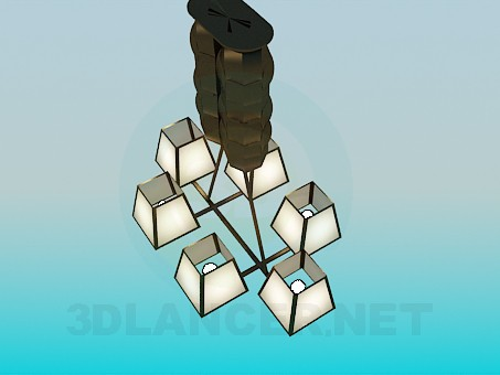 3d model The lamp on 6 bulbs - preview