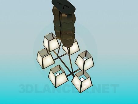 descarga gratuita de 3D modelado modelo La lámpara de 6 Bombillas