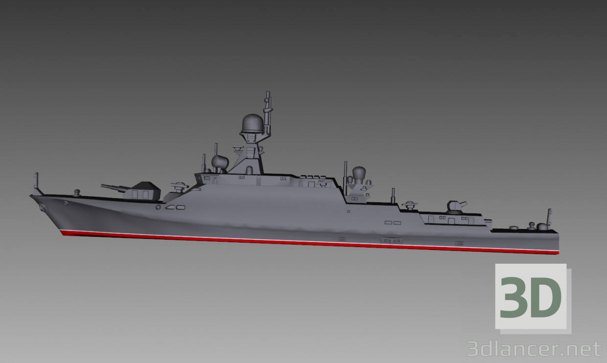 3d modeling Small Missile Cruiser model free download