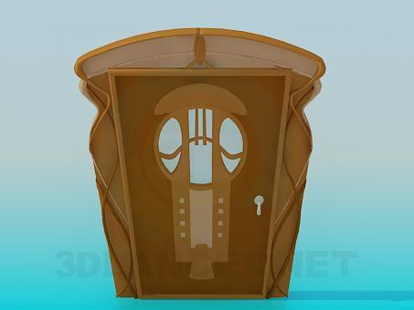 3d modeling Door with glass model free download