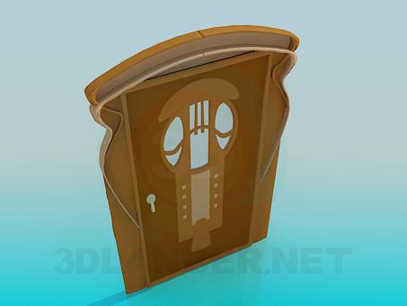 3d model Door with glass - preview