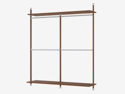 Shelving with solid shelves