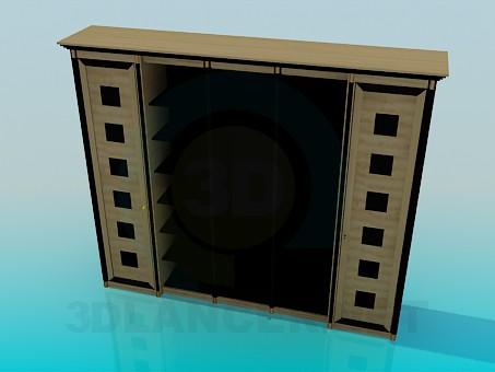 3d модель Винный кабинет – превью