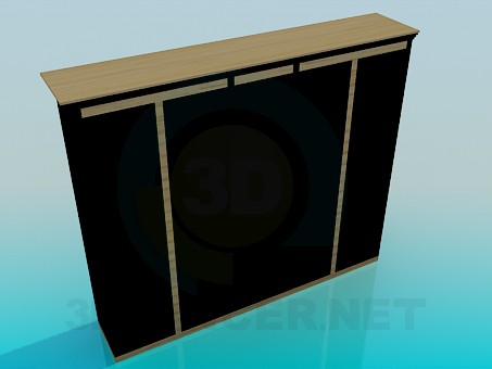 3d model Wine cabinet - preview