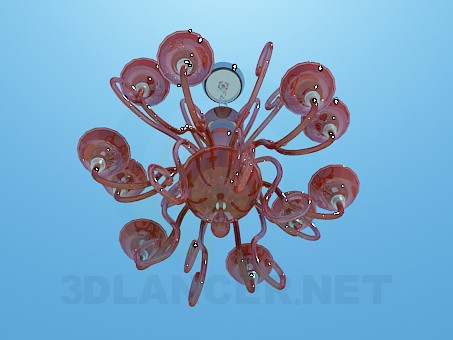 3d model Glass chandelier - preview