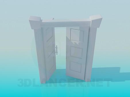3d модель Двойная дверь – превью