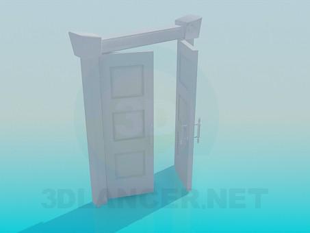 3d модель Подвійні двері – превью
