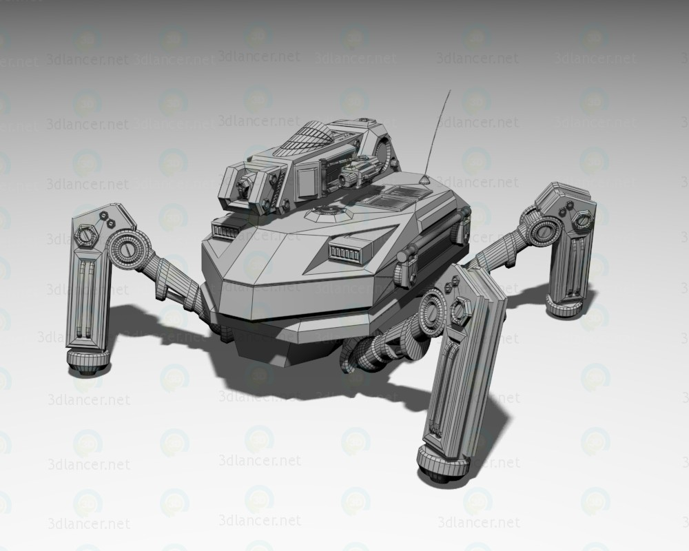 3d  Engineering bot Praefectus M2  model buy - render