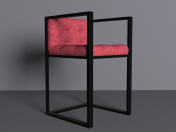 Chair with metal frame