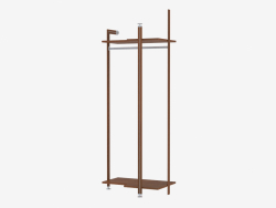 Rack with two shelves