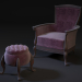 3 डी कुर्सी pouf मॉडल खरीद - रेंडर