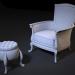 3d chair pouf model buy - render