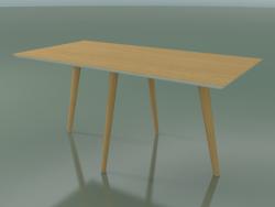Table rectangulaire 3504 (H 74 - 160x80 cm, M02, Chêne naturel, option 1)