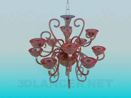 3d modeling Glass chandelier model free download