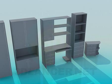 3d моделювання Шафи для кабінету модель завантажити безкоштовно