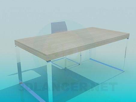 3d model Table and Chair for the workplace - preview
