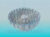 Lámpara Chandelier con monedas