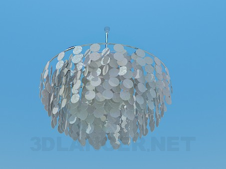 3d model Chandelier with coins - preview